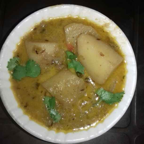 Photo of Doi Aloo Curry by Tumpa Roy at BetterButter