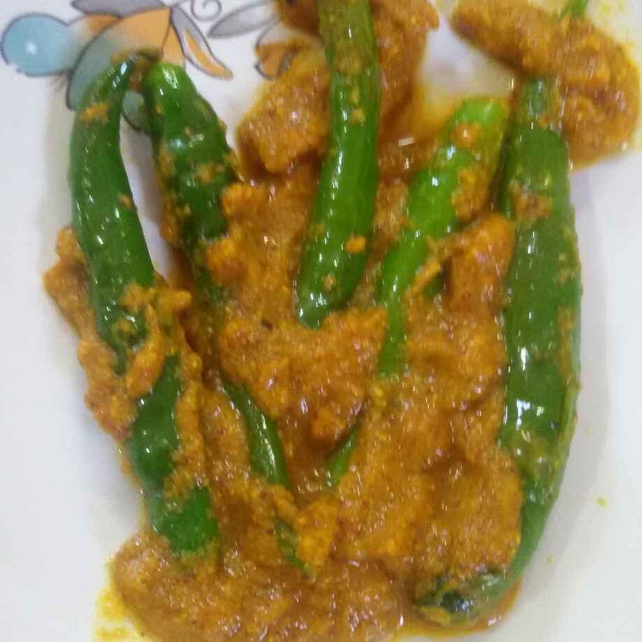 How to make हरी मिर्च की सब्जी