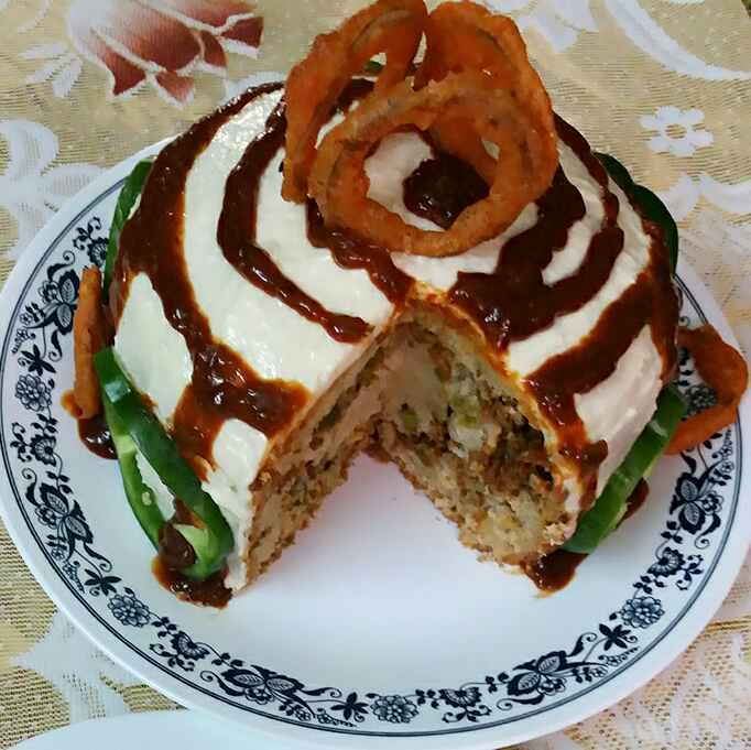 How to make STIR FRY SOYA KEEMA VANILLA CAKE WITH  SOUR CREAM AND HOT CHILLI WINE GLAZED