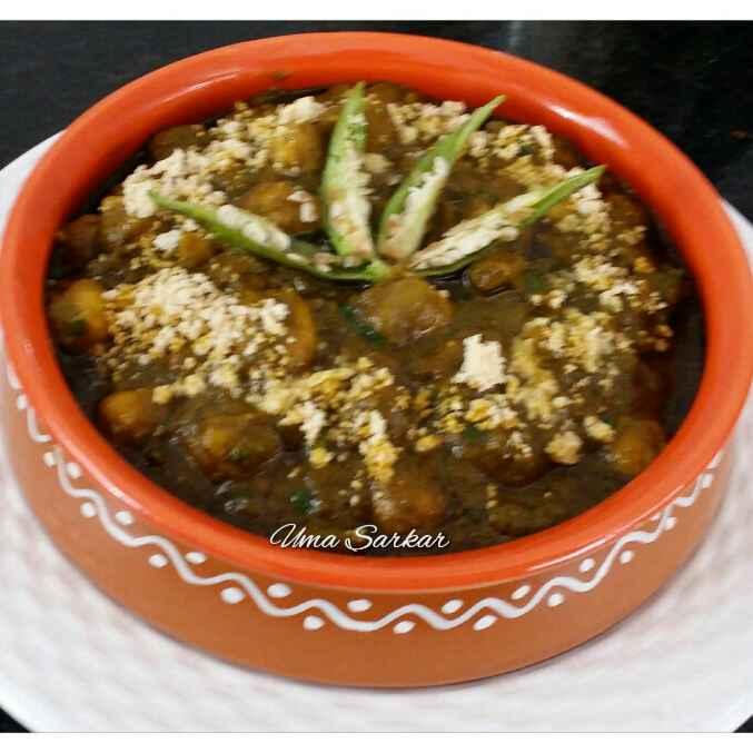 How to make Chole Palak