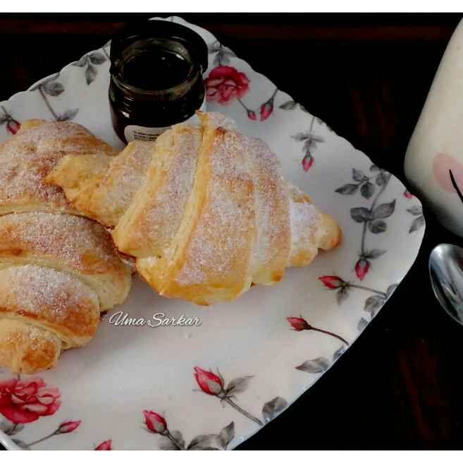 How to make Sugar coated Croissants ..