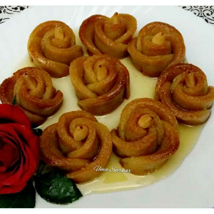 How to make Sweet pototo baked rose
