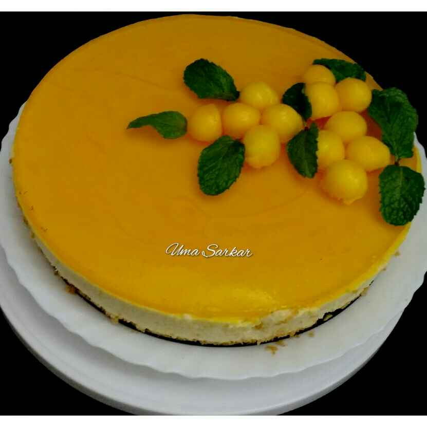 How to make Mango cheese cake topped with jelly..