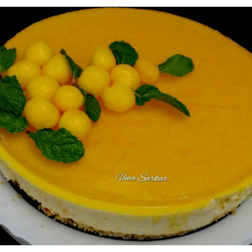 Photo of Mango cheese cake topped with jelly.. by Uma Sarkar at BetterButter