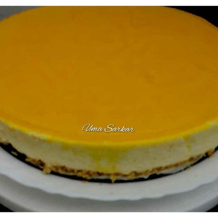 Photo of Mango cheese cake with mango jelly. by Uma Sarkar at BetterButter