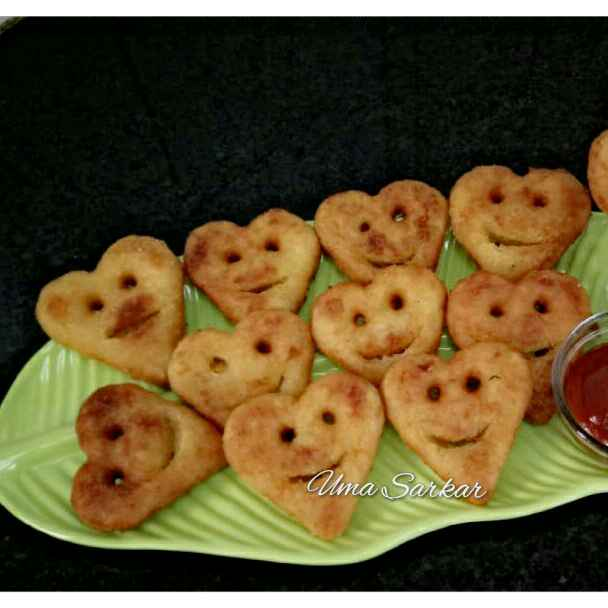 Photo of Carrot smile hearts by Uma Sarkar at BetterButter