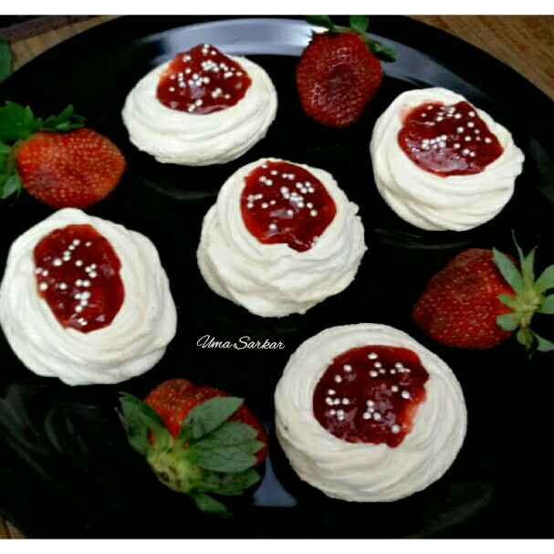 Photo of Strawberry crush meringue cookie by Uma Sarkar at BetterButter