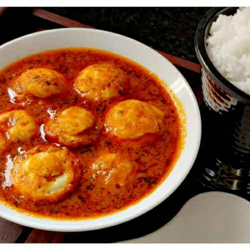Photo of Poached egg in tomato gravy by Uma Sarkar at BetterButter