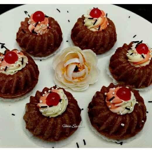 How to make রেড ভেলভেট মিনি বানট কেক