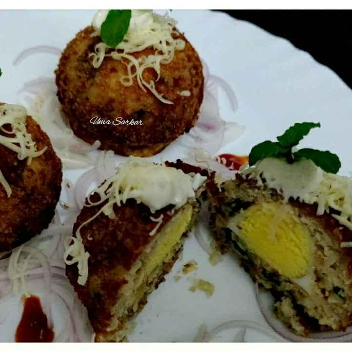 Photo of Chicken moon cake ( savoury) by Uma Sarkar at BetterButter