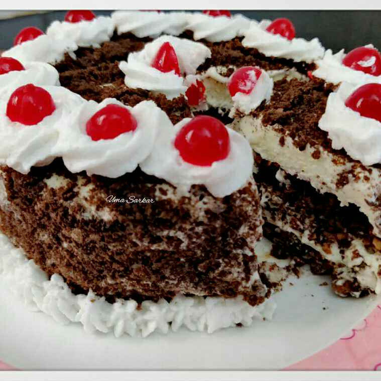 Photo of Black forest icecream cake by Uma Sarkar at BetterButter