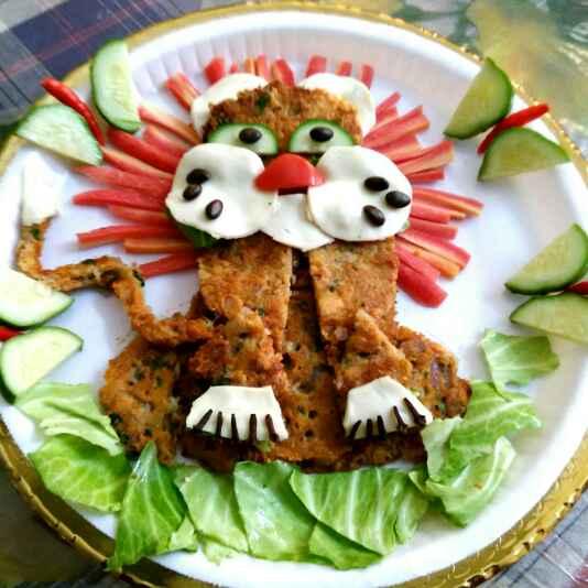 Photo of Lion shaped cheesy potato pancake by Umasri Bhattacharjee at BetterButter