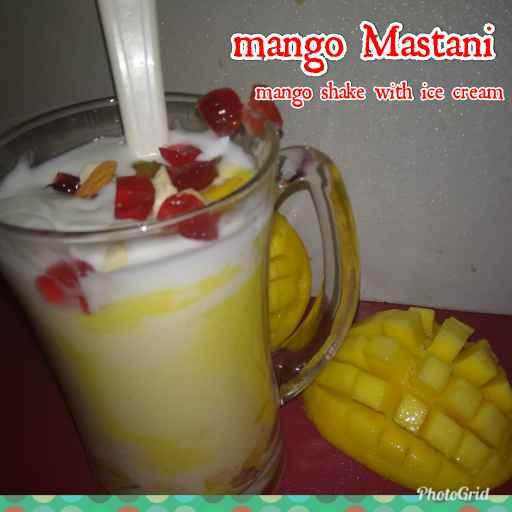 How to make Mango mastani. Mango shake with ice cream..