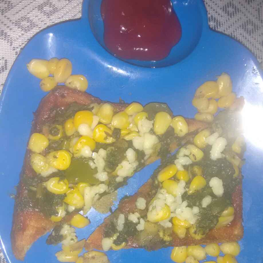 Photo of Rcon palak chij tost by Urmila Agarwal at BetterButter