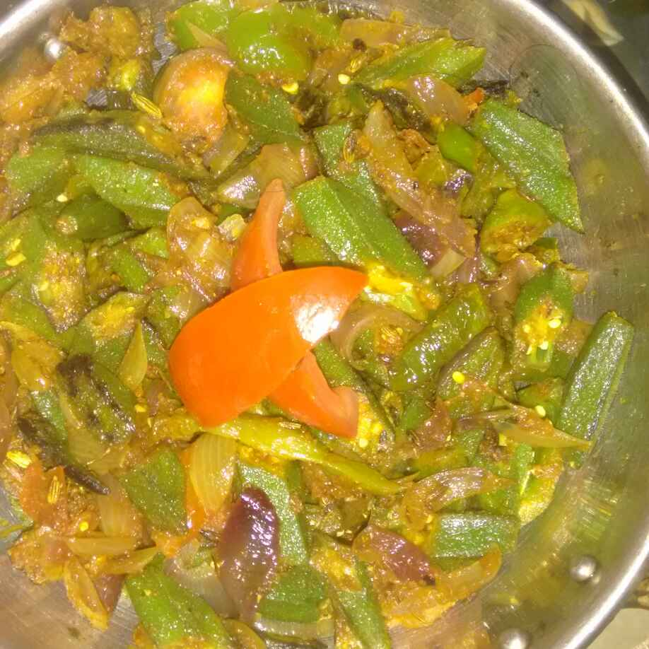 Photo of Kadahi bhindi by Urmila Agarwal at BetterButter