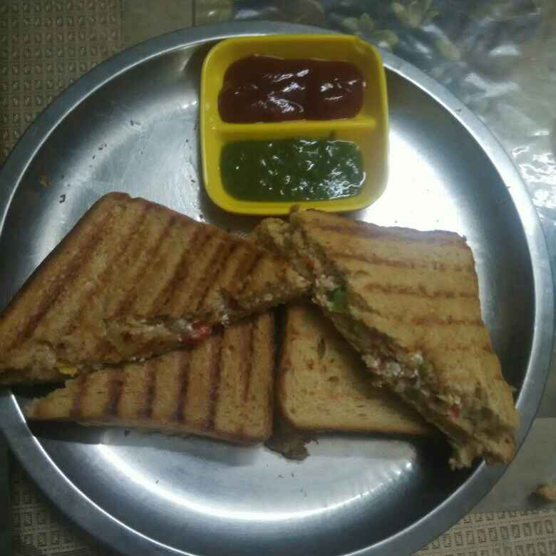 Photo of Grilled veg sandwich with mayonnaise by Urmila Agarwal at BetterButter