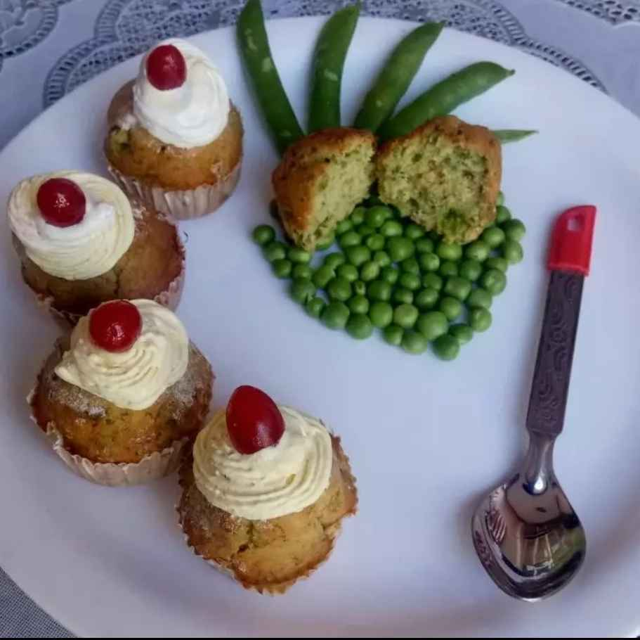 How to make Green Peas Cup Cakes