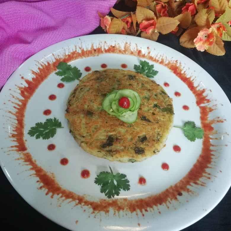 Photo of Laccha potato cheesy pancake by Urvashi Belani at BetterButter