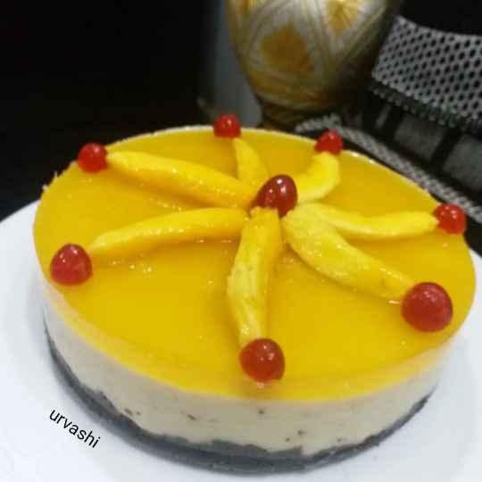 Photo of Mango cheeze cake by Urvashi Belani at BetterButter