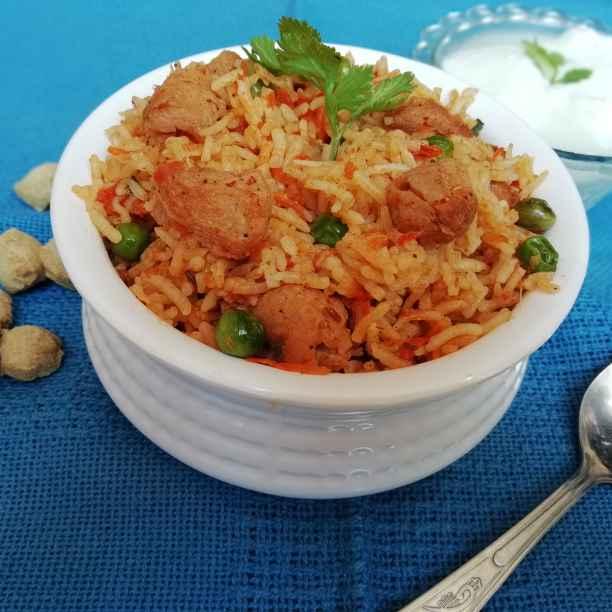 Photo of Carrot soya pulao by Urvashi Belani at BetterButter