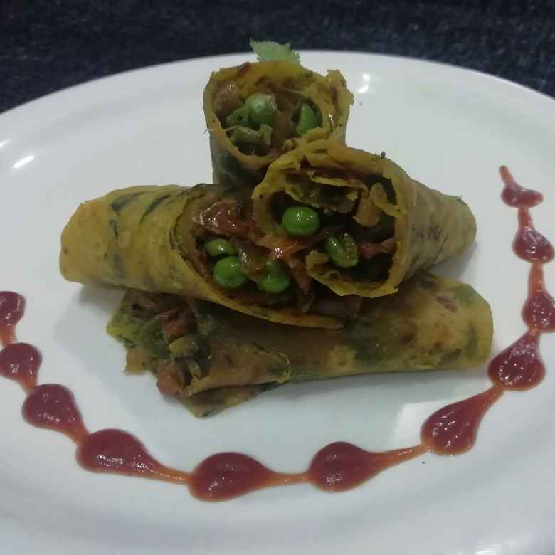 Photo of Methi paratha kathi roll by Urvashi Belani at BetterButter