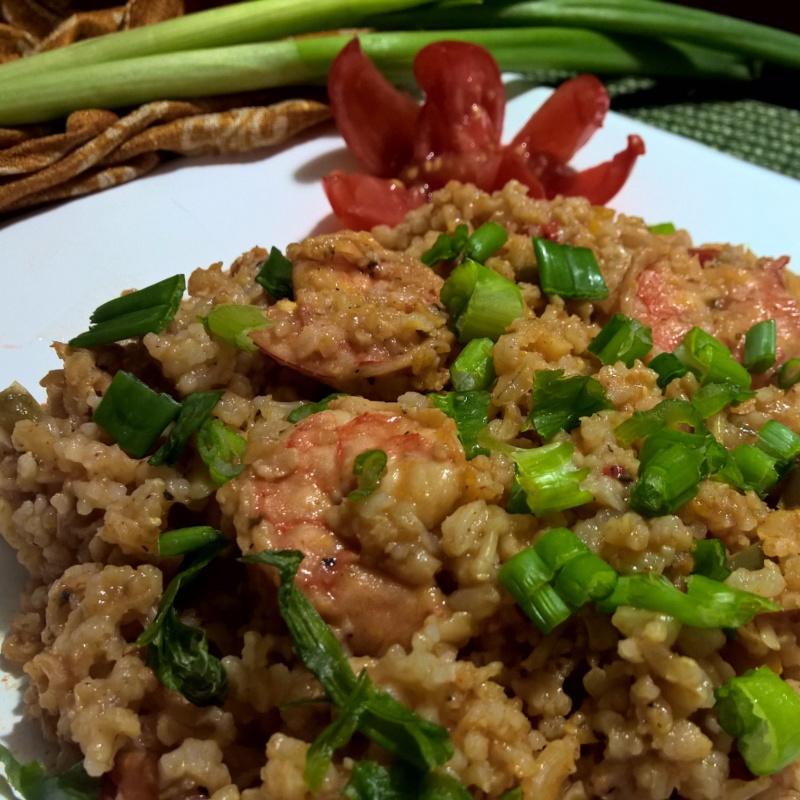 How to make Brown Rice Shrimp Jambalaya
