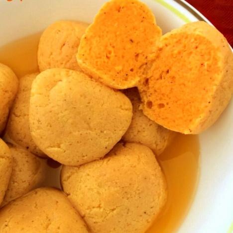 How to make Kamola Bhog(Orange flavored rosogolla)
