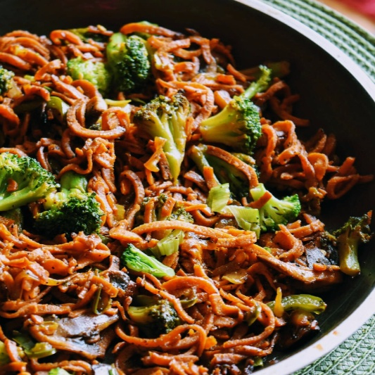 How to make Sweet Potato Noodles Stir Fry