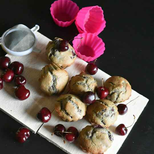 Photo of Multigrain Cherry muffins by usashi mandal at BetterButter