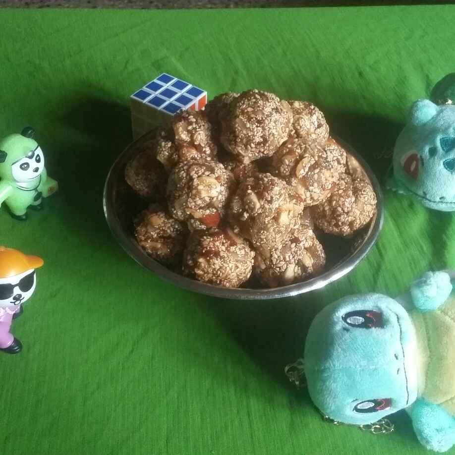 How to make Sesame dryfruits laddu.