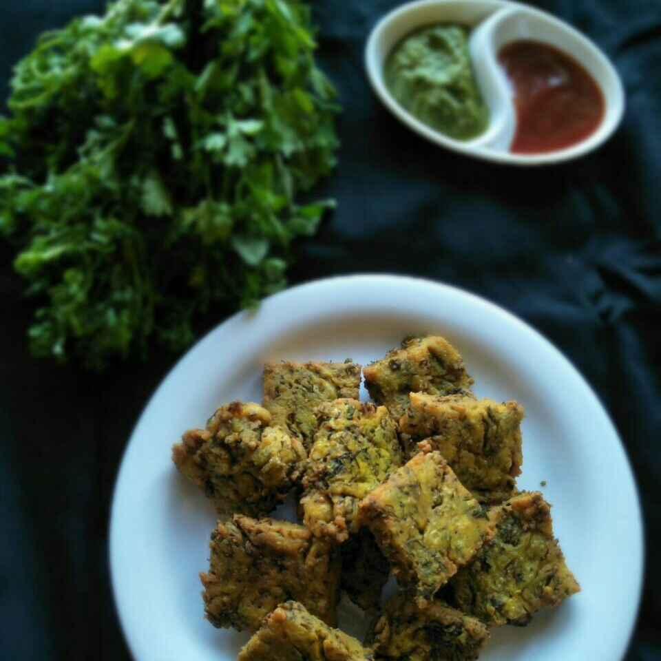How to make Kothimbir vadi