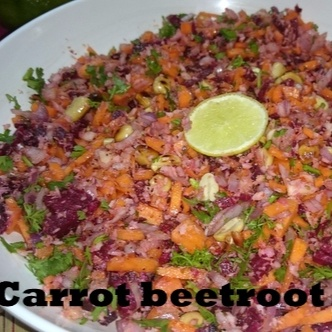 How to make Carrot Beetroot Salad