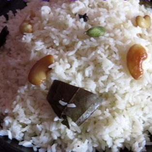 How to make Ghee rice with coconut milk