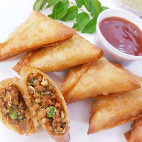 How to make Soya Sprout Samosa