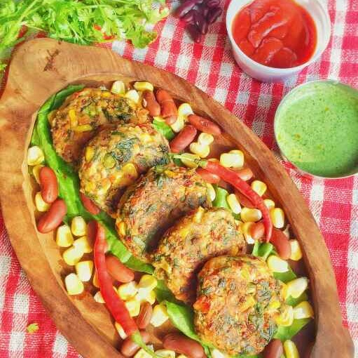 Photo of Beans,spinach and corn tikki by uzma shouab at BetterButter
