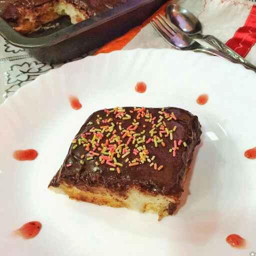 Photo of Caramalized toasted bread cake with semolina pudding by uzma shouab at BetterButter