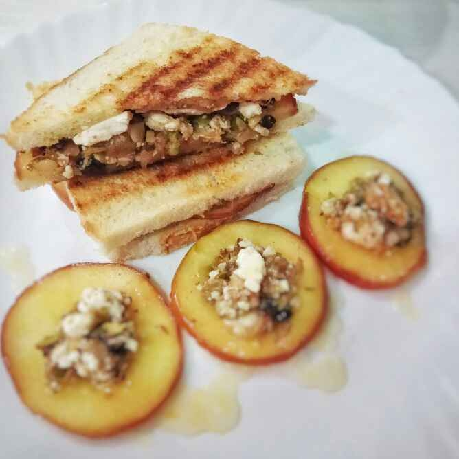 How to make Fruits and nuts sandwich