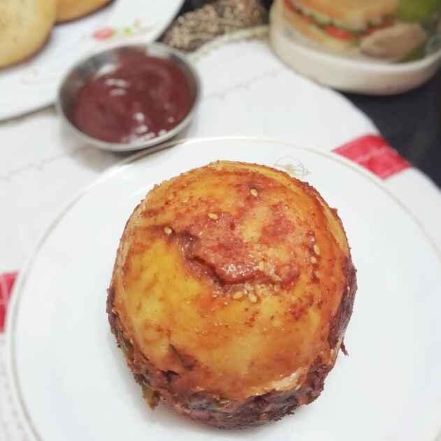 Photo of Veg Tawa Burger by uzma shouab at BetterButter