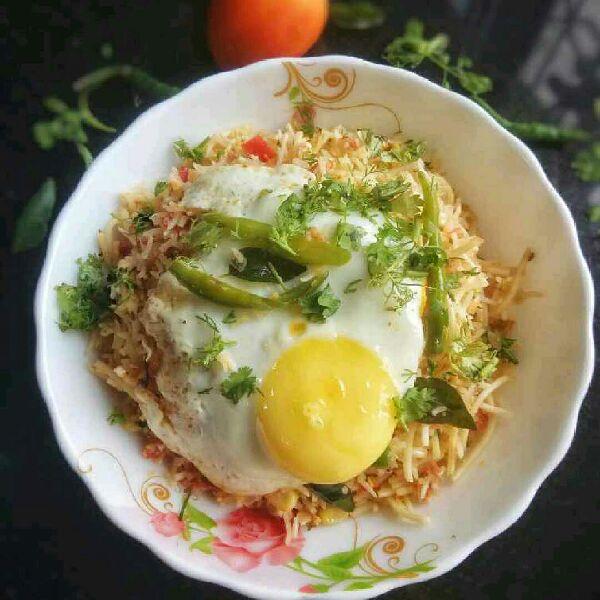 How to make Indian Masala Egg Noodles Rice