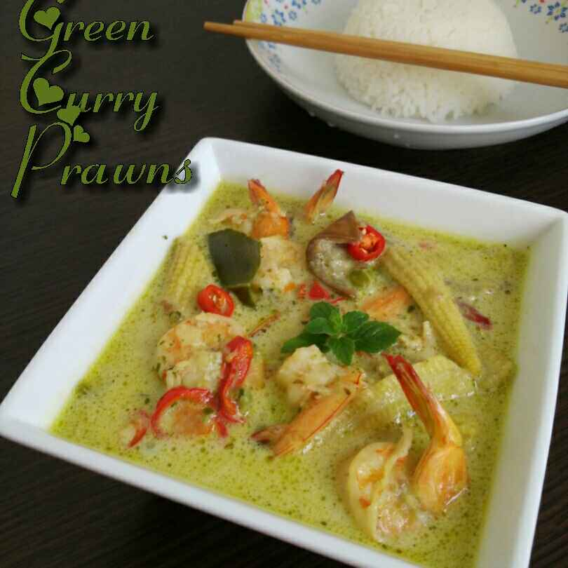 Photo of Thai green curry prawns by Vahitha Hasan at BetterButter