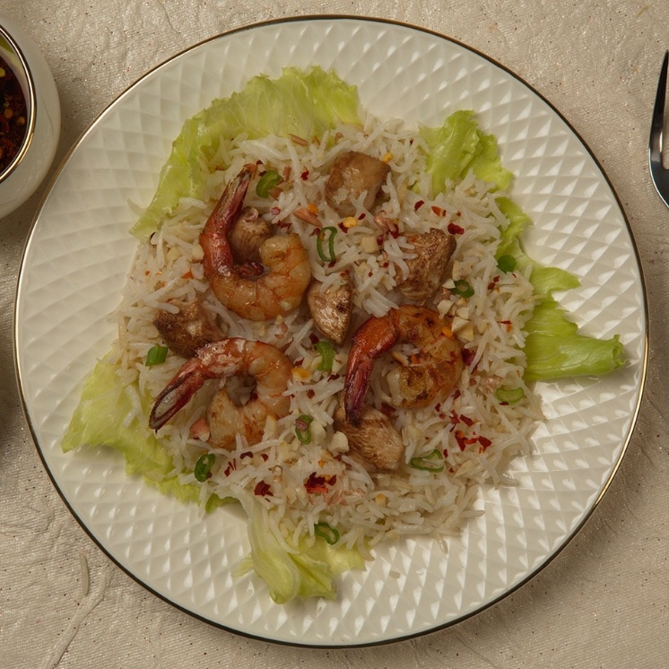 How to make Chicken And Shrimp Rice Salad