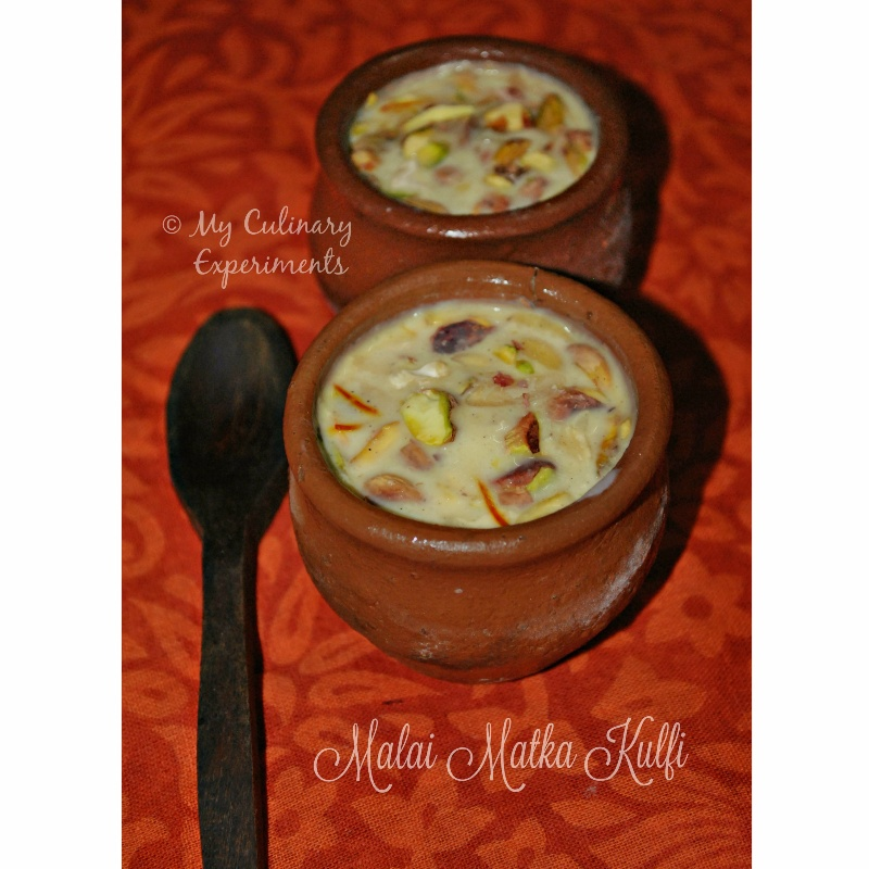 Photo of Malai Matka Kulfi by Vaishali Nagarajan at BetterButter
