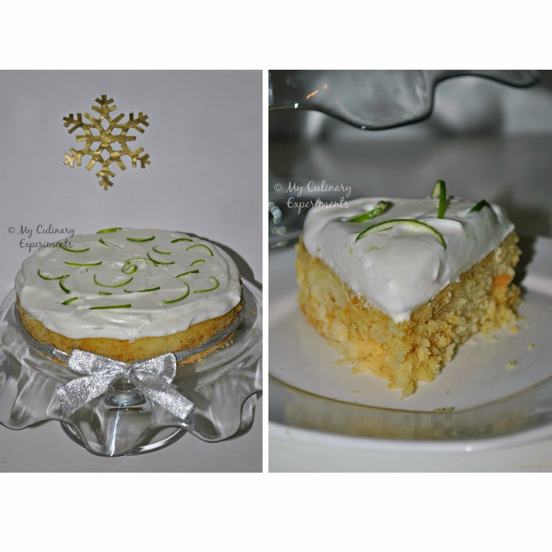 Photo of Eggless Fluffy Lime Yogurt Cake With Lime Whipped Cream by Vaishali Nagarajan at BetterButter