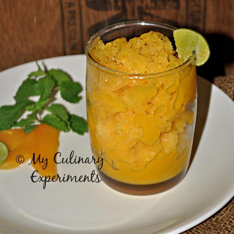How to make Mango Lime Granita