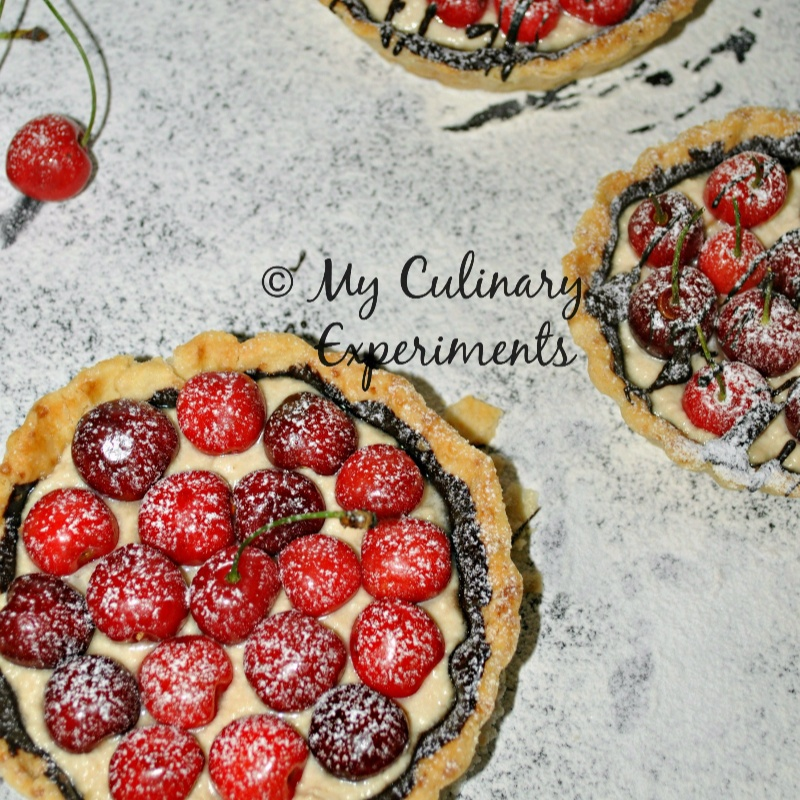 How to make Ricotta, chocolate and cherry mini tarts