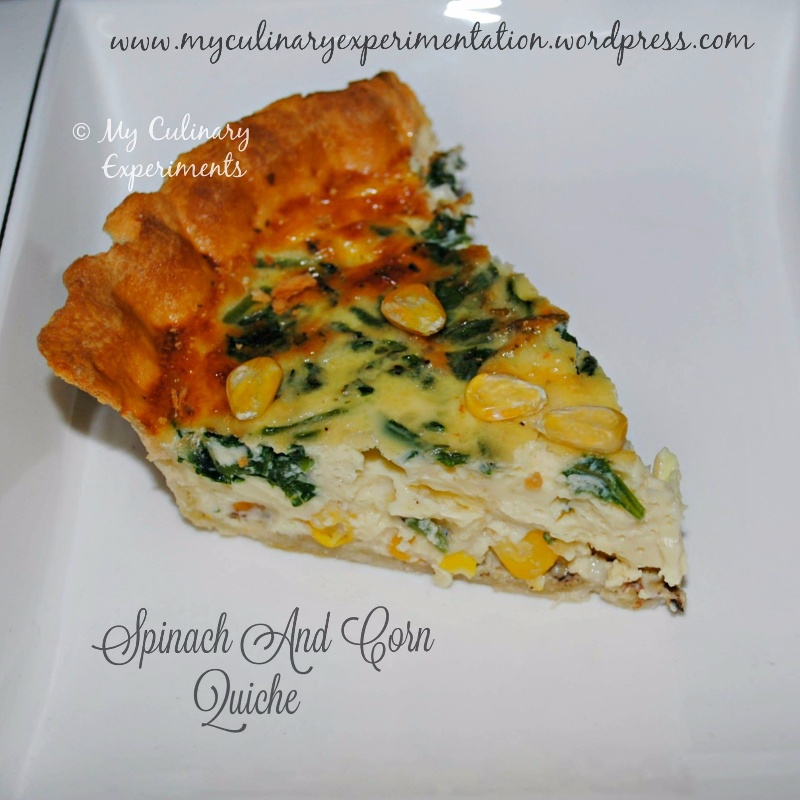 How to make Spinach, Cheddar and Corn Quiche
