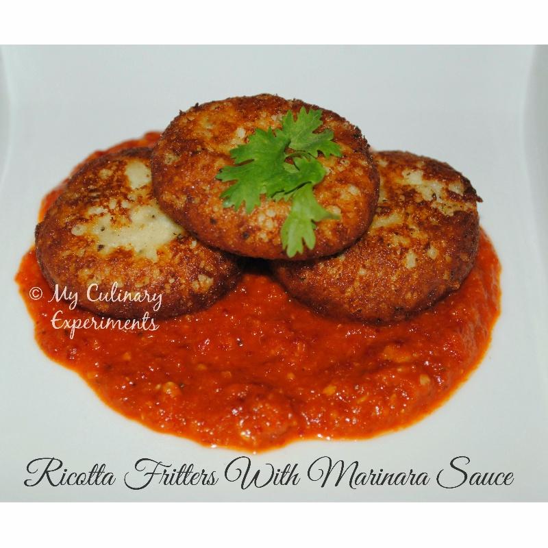 Photo of Ricotta Cheese Fritters with homemade Marinara Sauce by Vaishali Nagarajan at BetterButter