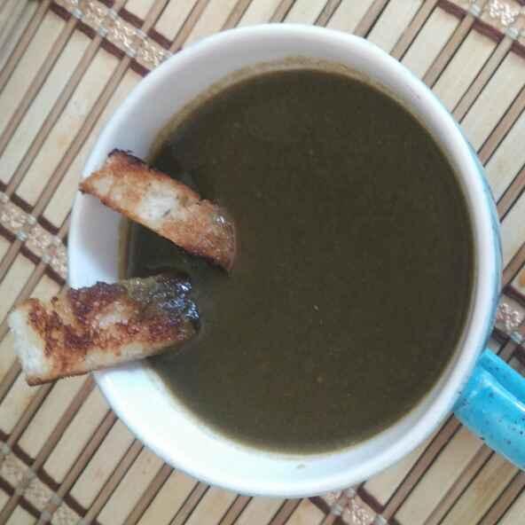 Photo of Hirvya Palebhajya Gajar Tomato Soup by Vaishali Joshi at BetterButter