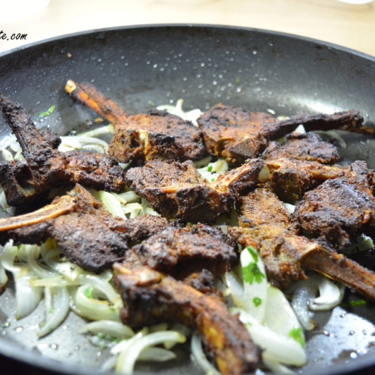 How to make Tray baked lamb chops with harissa and herbs