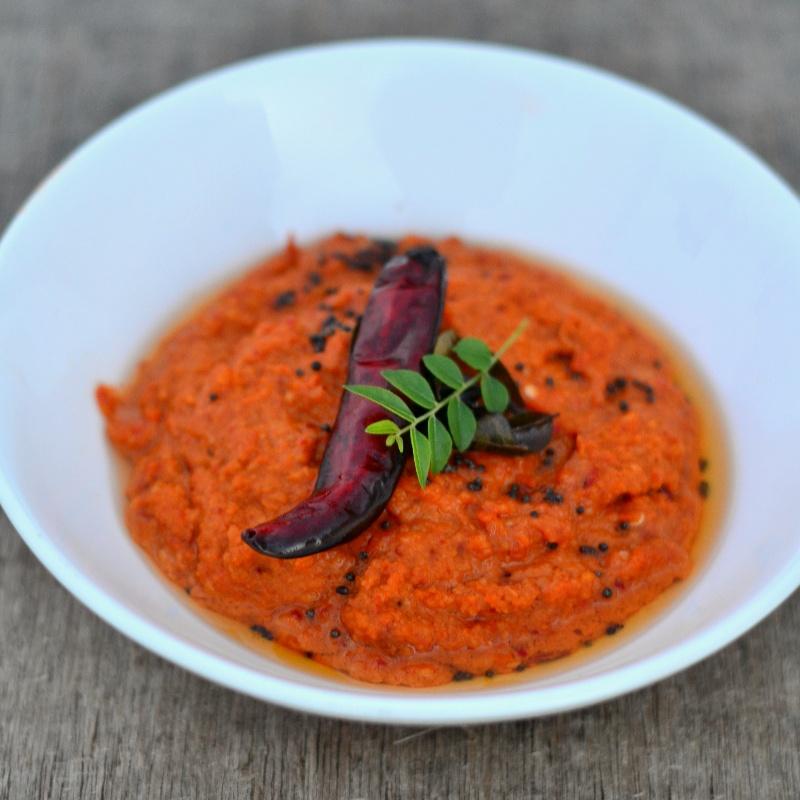 How to make Red Capsicum Chutney